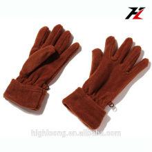 Invierno barato tejidos marrón thinsulate guantes de lana polar para ciclismo