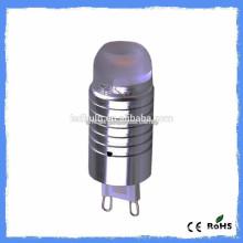 Nouvelles voitures mini silicon AC 110V ou 230 3000K 2W G9 LED 10W