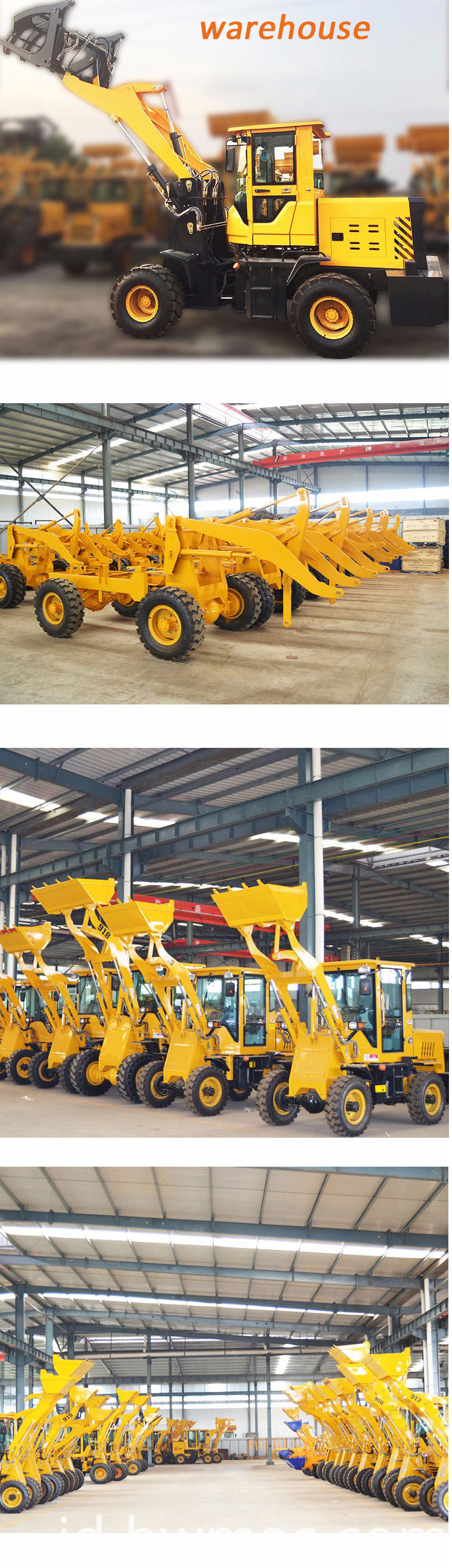wheel loader ware house