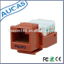Red cat5e rj45 UTP clavija trapezoidal / cat6 8p8c 90 grados modular jack / amp krone systimax modular conector