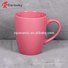 Varios barata color sólido esmalte gres taza
