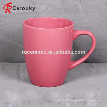 Various cheap solid color glaze stoneware mug