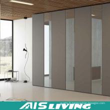Armoires de chambre à coucher de style simple faites sur commande avec le miroir (AIS-W269)