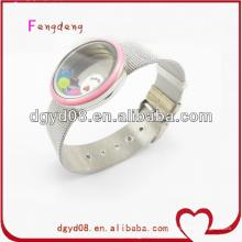 Les hommes populaires charmes flottants émail bracelet en gros