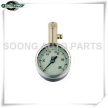 Medidor de presión de neumáticos con dial de vástago de latón con válvula de liberación de aire