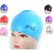 Waterproof Customized Logo Print Soft Adult Silicone Swimming Caps