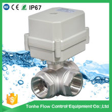 3 Way Ss304 Stainless Steel Cwx-15n Electric Motorized Ball Valve