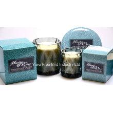 Роскошные 340г ароматическая ручной работы ремесло свеча с тремя Фитилями