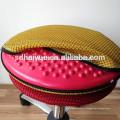 Горячий продавать дизайн желтый сетки круглый сиденье компьютер стул домой стул с хромированными основание