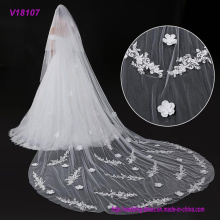 Multiple Size Lace Trim Bridal Veil / Wedding Veil