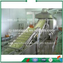 Línea de producción de hortalizas y frutas