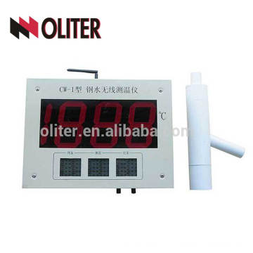 wk-200a wireless analog/digital temperature indicator label instrument with disposable thermocouple for molten steel