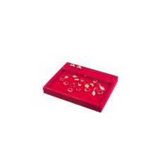 Schmucksache-Erscheinen Roter Samt-mehrfacher Schmucksache-Anzeigen-Behälter (TY-RPRWX-F)