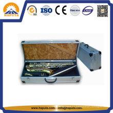 Большой алюминиевый футляр для инструмента летного саксофона с защитной пеной