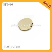MFB90 Botón de caña de metal dorado de iluminación en blanco para pantalones vaqueros