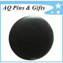 Mayorista Insignia de cuero verdadera del botón de la placa de estaño (botón badge-56)
