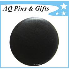 Grossiste Badge en cuir véritable en tôle à plaque (badge à bouton-56)