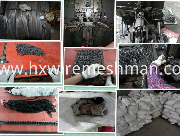 production process of chain link screen