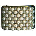 Rectangle Metal Shoe Clips Pearl and Rhinestone Embellishment