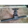 Válvula de compuerta de acero forjado con pezón