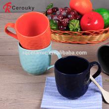 Alta qualidade cor pura 12 oz caneca de cerâmica