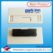 White Plastic Reusable Magnetic Name Badge