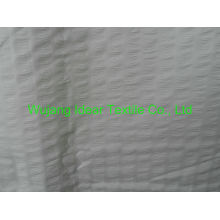 75 * 150D tecido poliéster liso pêssego pele gravada / gravam seersucker