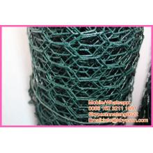 """BWG 18 1/2 """"revestimento de vinil galvanizado gaiola hexagonal rede de malha de arame de galinha"""