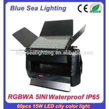 Профессиональное 60pcs 15w rgbwa 5 в 1 европейском наружном освещении ip65