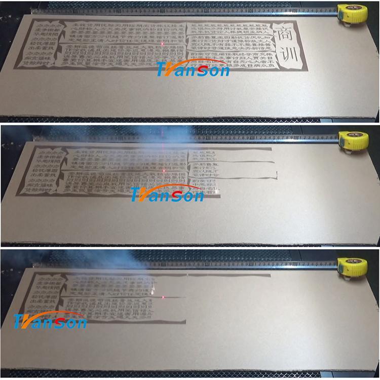 MDF laser marking machine