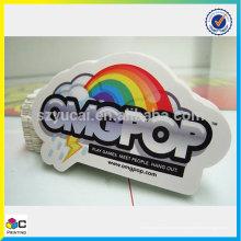 Китай производитель пользовательских круглый стикер печати и водонепроницаемый винил наклейка печати