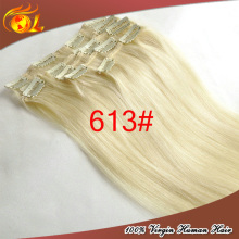 American salon used top grade clip in human hair extension