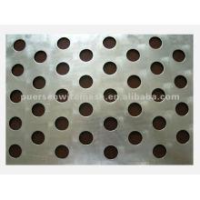 Placa de acero inoxidable chapa perforada