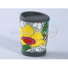 taza de café de cerámica con mango grande