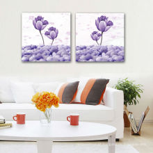 2Piece lona da parede da flor