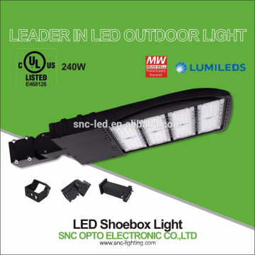 240 Watt LED Shoe Box Lamp for Parking Lot Road, Slip Ftter, 5700K, Dark Bronze Finish