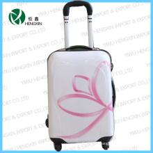 Ensemble de bagage de chariot à fleur rose
