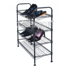 Adjustable DIY Slanted Shoe Rack Powder Coating in Black (CJ-C1112E)