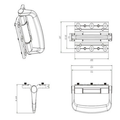 Hinge with Handle Set Drawing