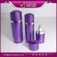 SRS recipiente de bomba de plástico para o soro de toner loção, vazio acrílico garrafa de olho cosméticos forma preta