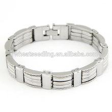 Stainless steel cuff bracelet punk man hand bracelet