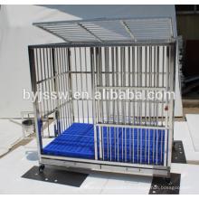 Cage de chien en acier inoxidable fort et caisse de chien à vendre