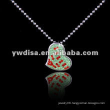Stainless Steel Pendant Necklace ,Beart-Shaped Couple Necklace