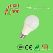 12W E27/B22 plástico + alumínio luz de LED, lâmpadas LED