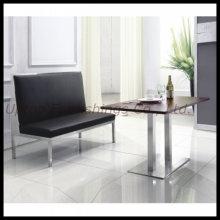 Edelstahl Leaher Restaurant Booth Banquette Sitzplätze (SP-KS188)