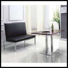 Stainless Steel Leaher Restaurant Booth Banquette Seating (SP-KS188)