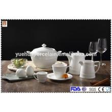 Ceramic dinnerware sets with tea pot/big pot/milk jar/cup and saucer/pepper shaker