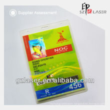 Hologram plastic laminating pouch for id card