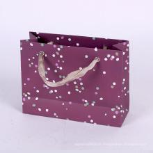 Nouveau logo personnalisé fantaisie imprimé sac à provisions cadeau papier sac avec poignée