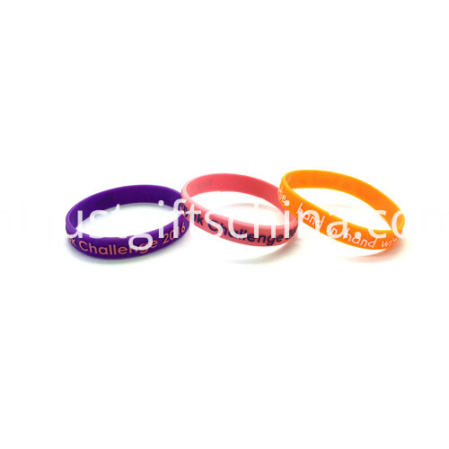 Promotional Embossed Printed Silicone Wristbands-202122mm2